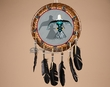 "Native American Navajo Rawhide War Shield 14"" -Eagle (25)"