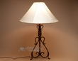 "Southwestern Forged Iron Lamp 32"" -Oak Creek"