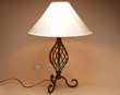 "Southwest Wrought Iron Table Lamp 23""  (TL15)"