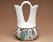 "Native American Pueblo Pottery WeddingVase 12"" -Tigua (176)"