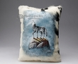 Painted Cowhide Pillow - wolf  12x18 (12)