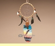 "Indian Cedar Feather Dream Catcher 11"" -Sunset Cruise  (108)"