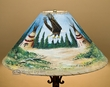 "Painted Leather Lamp Shade 20"" -Eagle Village  (PL91)"