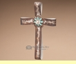"Metal Southwest Designer Ribbon Cross 12"" -Cream  (c41)"