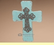 "Rustic Southwest Turquoise Cross 10"" -Las Animas  (c43)"