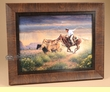 "Western Cowboy Art 20.5""x16.5"" -Hot Persuit  (a27)"