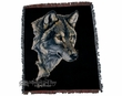 "Wildlife Southwestern Throw Blanket 50""x60"" -Wolf  (st17)"