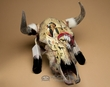 Antiqued Hand Painted Steer Skull -Warrior (s67)