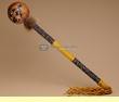 "Native American Creek Indian Gourd Rattle 18"" -Lizard (132)"