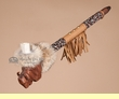"Native American Creek Indian Manzanita Pipe 22"" -Buffalo (65)"