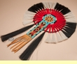 "Navajo Beaded Horse Hair Dance Bustle 16x23""  (h4)"