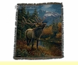 "Wildlife Southwestern Throw Blanket 50""x60"" -Elk  (st13)"