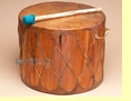 "Tarahumara Indian Cedar Pow Wow Drum 15.5""x12"" (tid4)"