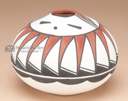 "Tigua Indian Seed Pot -Hopi Sun Face 3"" (m)"