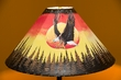 "Painted Leather Lamp Shade 20"" -Sunset Eagle  (PL92)"