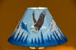 "Painted Leather Lamp Shade 15"" -Eagle (PL99)"
