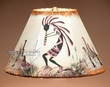 "Painted Leather Lamp Shade - 12"" -Kokopelli  (PL62)"