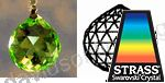 Swarovski Strass Light Peridot  Crystal Ball With Lazer Logo Etched 20mm
