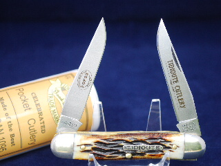 Tidioute Cutlery Burnt Grizzly Bone Mink Skinner