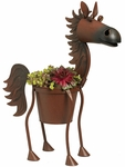 Fire Ball the Bay Horse Planter
