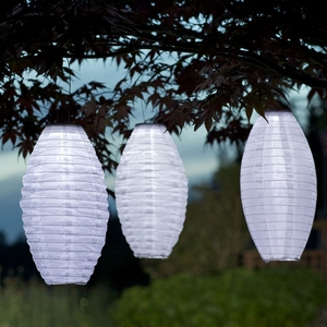 Soji Solar Lantern Pod - Solid White - Click to enlarge