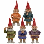 "8.5"" Toad Hollow Gnomes (Set of 5)"