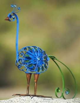 Filigree Peacock Bird Spinner - Click to enlarge