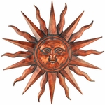 Copper Patina Sun Wall Art