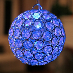 Glam Ball LED Lights - Blue - Click to enlarge
