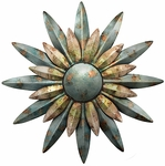 Aqua Sunburst Decor
