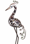 "29"" Filigree Heron Bird - Bronze"
