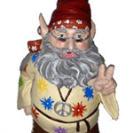 Hippie Dude Gnome