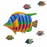 "9"" Tropical Fish Wall Decor (Set of 6)"
