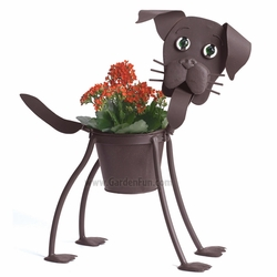 Buddy the Lab Dog Planter - Click to enlarge