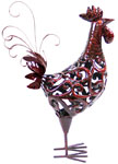 Red Filigree Rooster