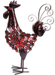 Red Mosaic Rooster Decor