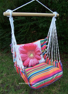 Pink Gerbera Daisy Hammock Chair Swing Set - Click to enlarge