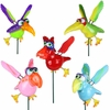 Funny Birds Garden Stakes (Set of 6)