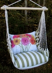 Summer Palm Gerberas Hammock Chair Swing Set