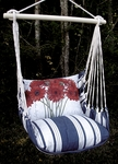 Marina Stripe Geranium Hammock Chair Swing Set