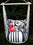 Metro Stripe Single Koi Hammock Chair Swing Set