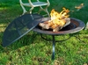 Steel Fire Pit w/Mayan Design & Screen
