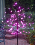 Pink LED Cherry Blossom Tree w/Leaves!