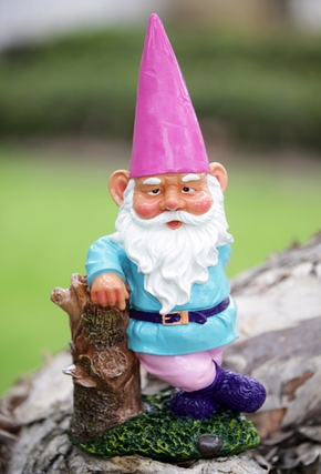 Garden Gnome Hipster - Pink Hat - Click to enlarge