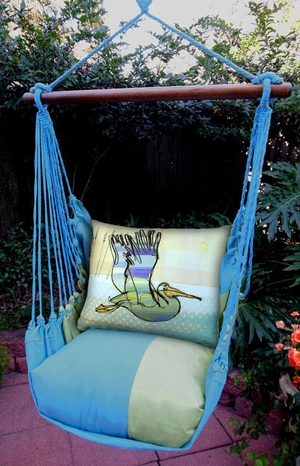 Meadow Mist Pelican Hammock Chair Swing Set - Click to enlarge