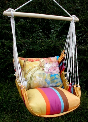 Cafe Soleil Floral Menagerie Hammock Chair Swing Set - Click to enlarge