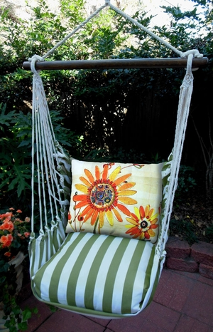 Summer Palms Sunflowers Hammock Chair Swing Set - Click to enlarge