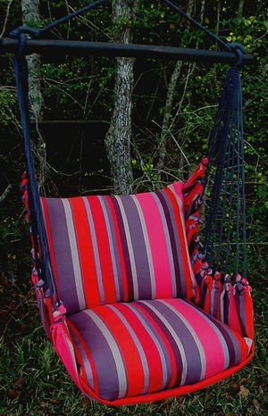 Lava Stripe Classic Hammock Chair Swing Set - Click to enlarge