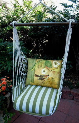 Summer Bird on Vine Hammock Chair Swing Set - Click to enlarge