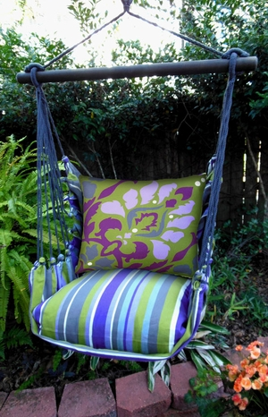 Folsom Dumask Purple Hammock Chair Swing Set - Click to enlarge